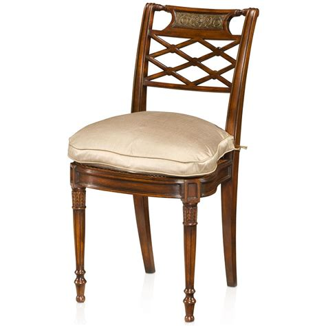 louis xvi style carved side chair occasional seating