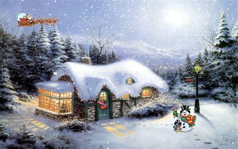 Snowy Cottage Animated Wallpaper - snowy cottage screensaver architecture modern idea