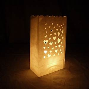 Solar Party String Lights Floating Hearts Paper Luminaries Luminary Lantern Bags