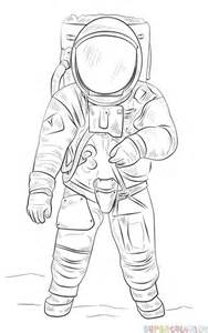 Easy Astronaut Drawing Steps