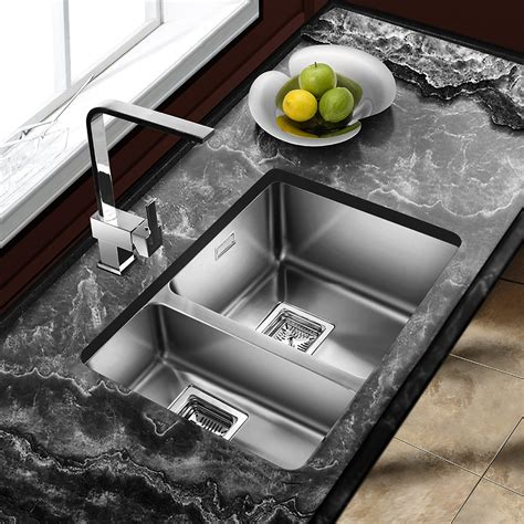 undermount kitchen sinks uk astini vico 1 5 bowl silk stainless steel undermount 6597