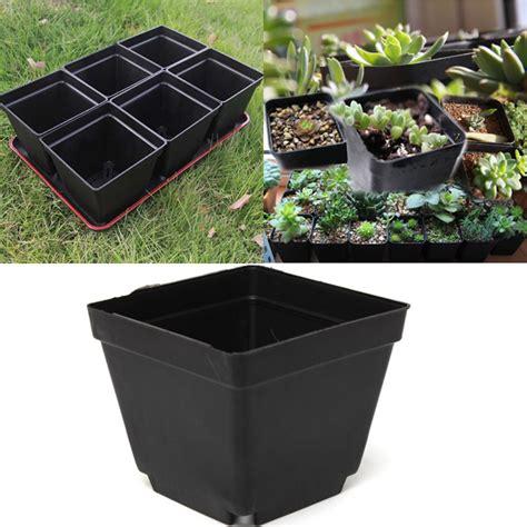 3 pots semis carr 233 en plastique noir de 5 pouces de jardin pots de p 233 pini 232 re chez banggood sold out