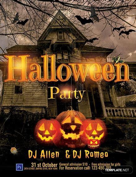 halloween dj party flyer template word  psd