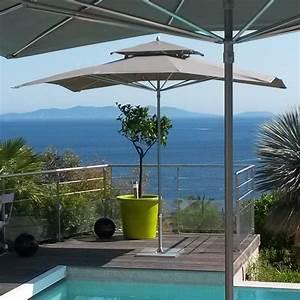 Parasol De Terrasse : parasols de terrasse complets parasols de terrasse double toit complet ~ Teatrodelosmanantiales.com Idées de Décoration