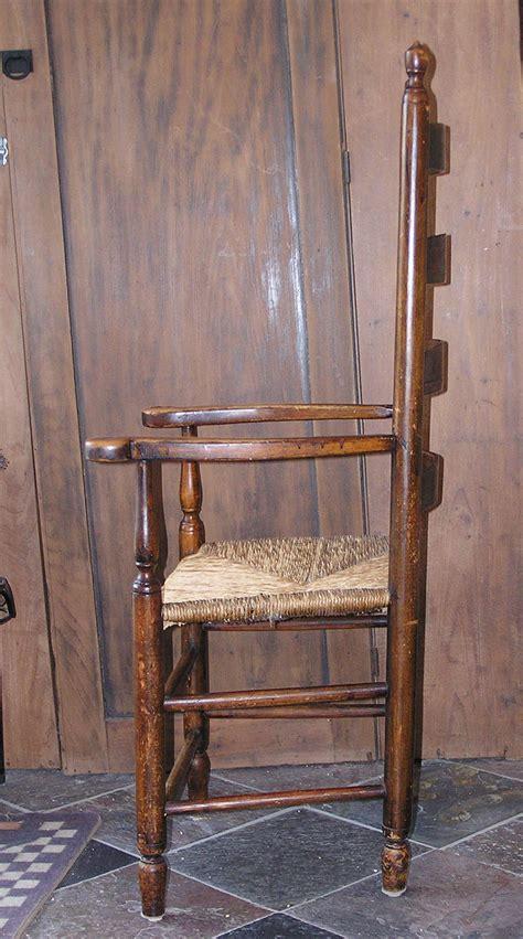 massachusetts shaker style ladder back seated arm