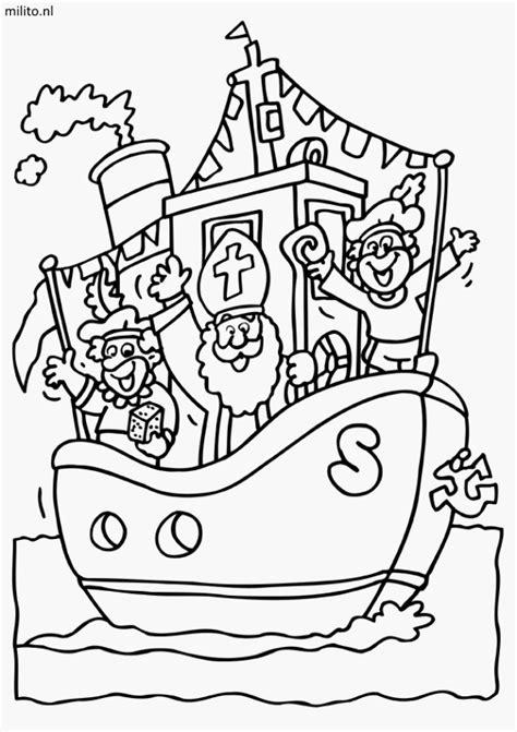 Kleurplaat Boot by Gratis Kleurplaten Boten