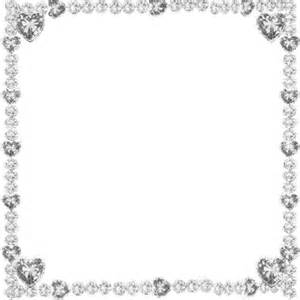 wedding inviations hearts glitter frame silver esme4eva2015 esme4eva