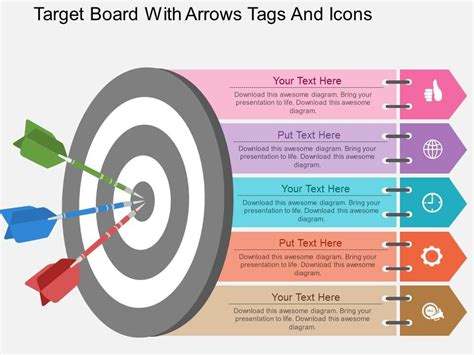 ew target board  arrows tags  icons flat powerpoint
