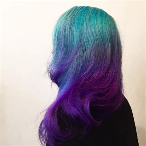 Turquoise To Violet Ombre Hair Hair Colors Ideas