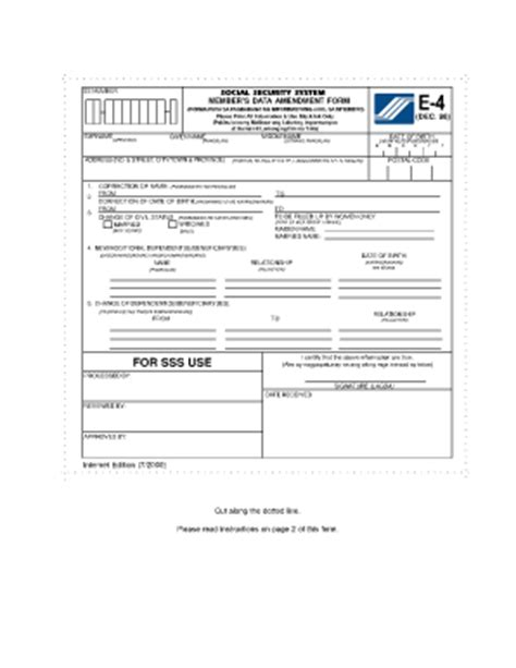 sss e6 form e4 form sss fill online printable fillable blank