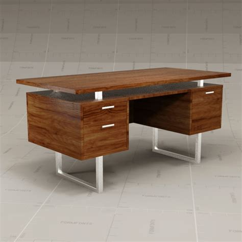 Clybourn Desk Crate And Barrel by Cb Clybourn Desk 3d Model Formfonts 3d Models Textures