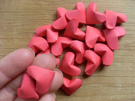 origami hearts   fold  origami shape papercraft