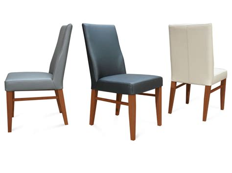 the contour mid back grain leather dining chair