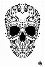 Coloring Skull Sugar sketch template