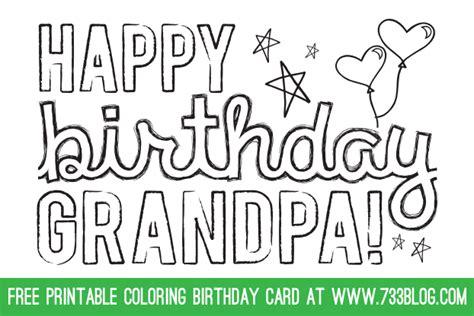 Happy Birthday Grandpa Coloring Pages Eskayalitim