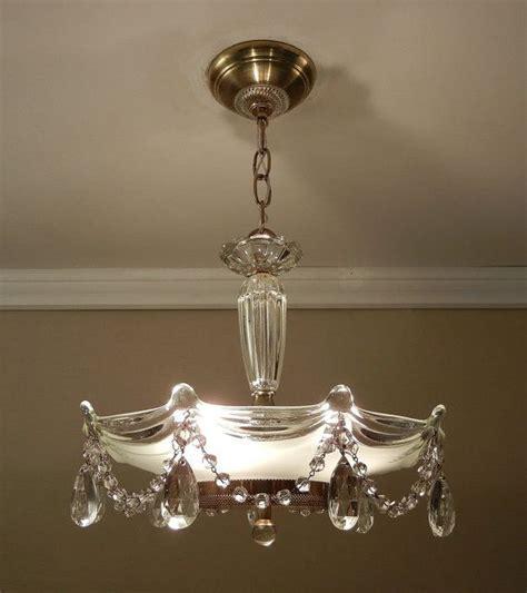 vintage chandelier crystal beaded drape  antique