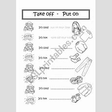 Clothes Take Off  Put On  Esl Worksheet By Mara69