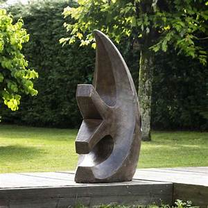 Sculpture De Jardin Contemporaine : statue de jardin sculpture moderne poisson marron 100 cm ~ Carolinahurricanesstore.com Idées de Décoration