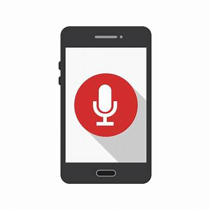 Mobile Icon Microphone Vector Application Clipart Graphics