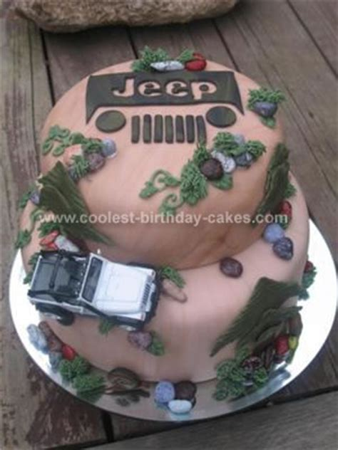 jeep logo cake coolest homemade jeep cakes