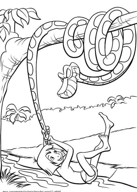 mowgli  kaa  python coloring pages jungle book