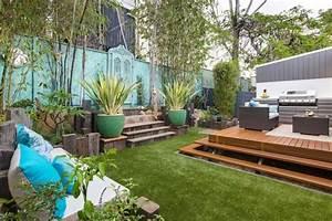 amenagement petit jardin en 55 photos fascinantes With modele de jardin paysager 19 cloture piscine pas cher