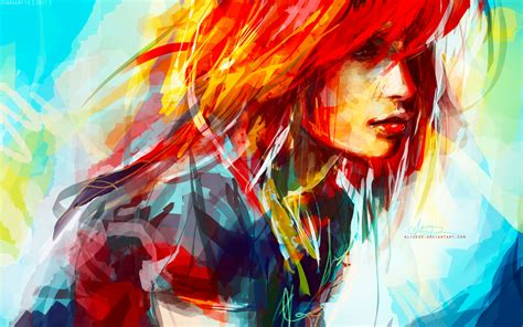 Hayley Williams Abstract Digital Painting Digitalartio