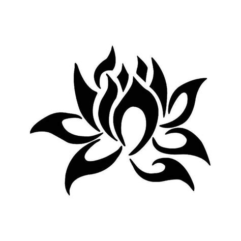 tribal lotus flower vinyl decal sticker ballzbeatz