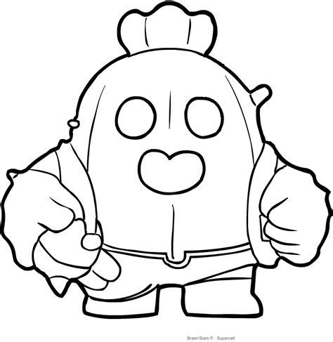brawl tutti i personaggi disegni disegno di spike di brawl da colorare