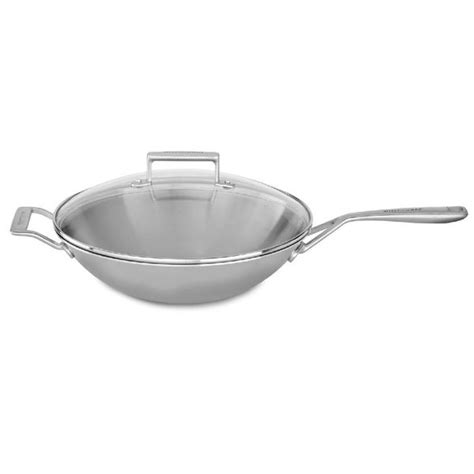 shop kitchenaid  tri ply stainless steel wok  shipping today overstock