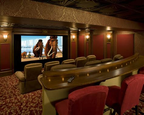 home theater interiors pub home theater traditional home theater