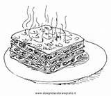 Lasagne Lasagna Colouring Alimenti Mewarna Pertandingan sketch template