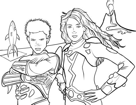 Sharkboy And Lavagirl Coloring Page By Pjmintz On Deviantart