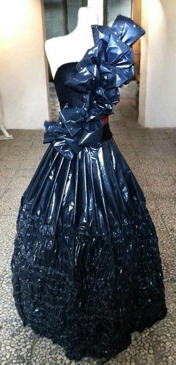 aprende como hacer vestidos reciclados de bolsas como