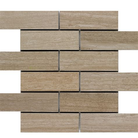 floor wall tiles shop style selections leonia sand brick mosaic porcelain floor and wall tile common 12 in x 12