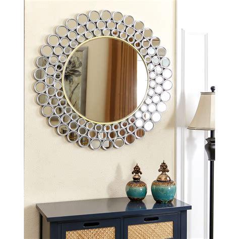 Abbyson Wilshire  Wall Mirror Silvergold