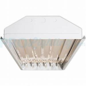 techbrite 6 lamp t8 led high bay fixture no lamps With 6 lamp t8 light fixture