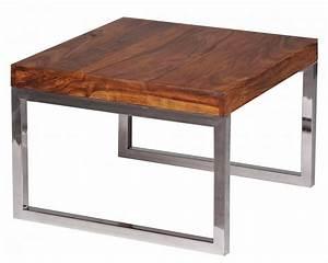 Tisch 60 Cm Breit : finebuy beistelltisch massiv holz sheesham wohnzimmer tisch metallgestell landhaus stil ~ Indierocktalk.com Haus und Dekorationen