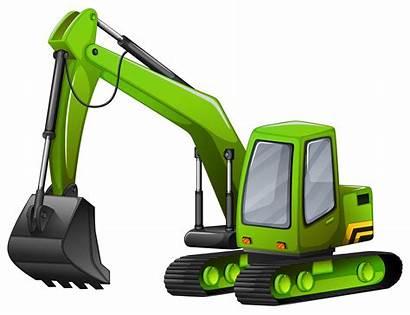 Excavator Vector Cartoon Shovel Giant Clip Closeup