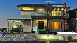 3D Front Elevation.com: 2 KANAL DHA MODERN CONTEMPORARY ...