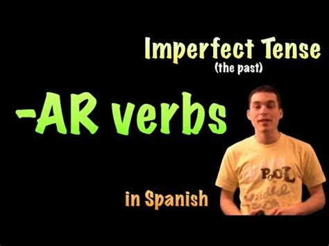 spanish lesson imperfect ar verbs youtube