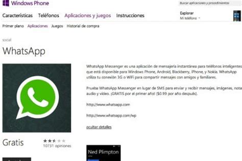 whatsapp para windows phone 8 ya est 225 disponible tecnolog 237 a computerhoy