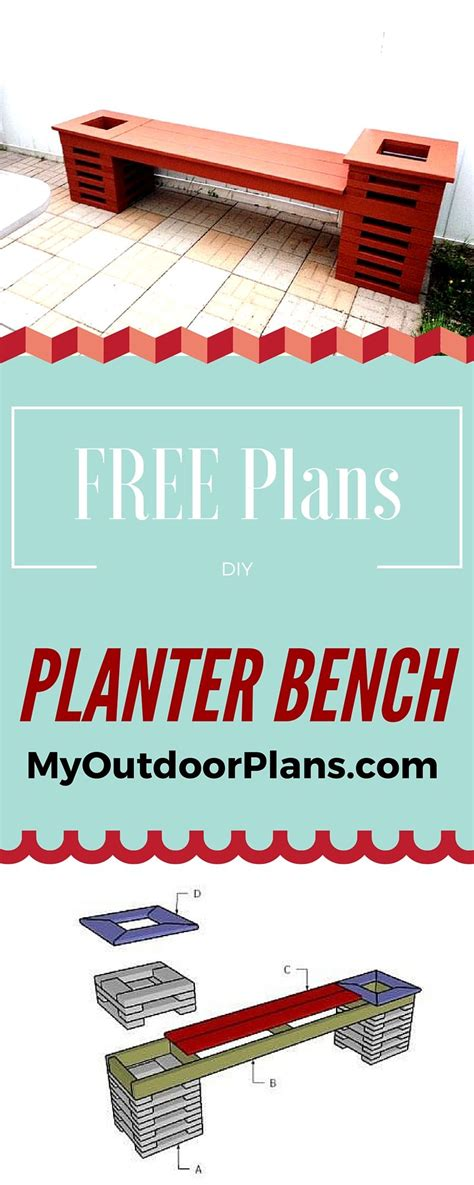planter bench plans step  step tutorial  detailed