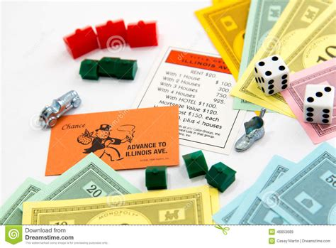 Monopoly Board Game In Play Editorial Stock Image Image