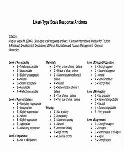 likert scale survey free premium templates With likert scale evaluation template