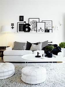 Bilder Für Das Wohnzimmer : 1001 muster schwarz wei lassen sie eine wandgestaltung ~ Michelbontemps.com Haus und Dekorationen