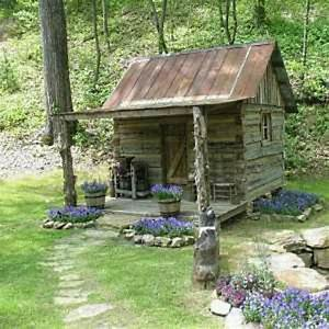 Small Cabin Old log cabins Pinterest
