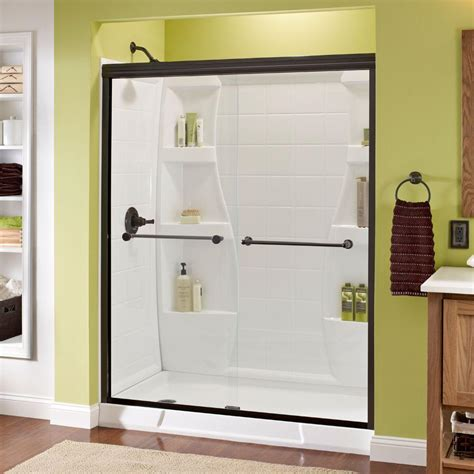 Home Depot Shower Door by Delta Crestfield 60 In X 70 In Semi Frameless Sliding