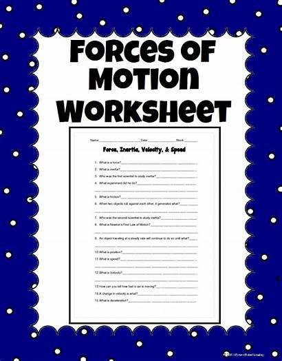 Worksheets Science Force Worksheet Motion Lessons Grade