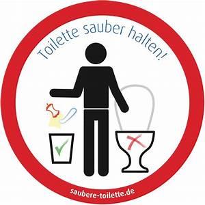 Was Ist Eine Toilette : aufkleber f r eine saubere toilette g ste wc ~ Whattoseeinmadrid.com Haus und Dekorationen